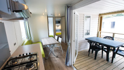 Luxury mobile home 4 rooms , 6 pers in your 3*** club in Gréoux-Les-Bains